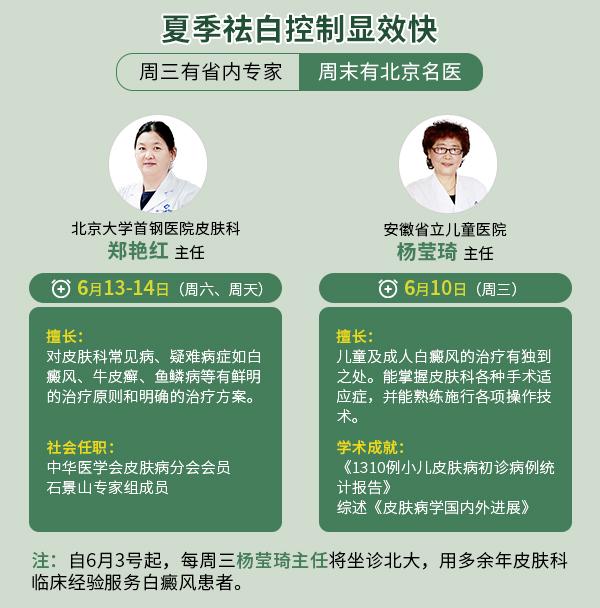 京皖·青少儿白癜风医学专家联合巡诊季